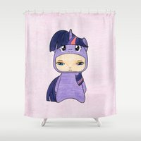 mlp Shower Curtains featuring A Boy - Twilight Sparkle by Christophe Chiozzi