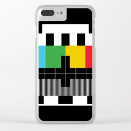 Test Pattern Clear iPhone Case