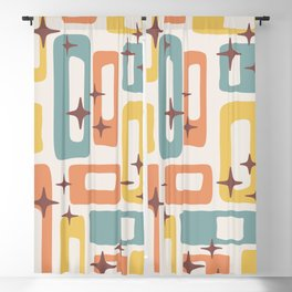Retro Mid Century Modern Abstract Pattern 240 Blackout Curtain