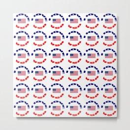Flag of Usa – I love Usa 4 Metal Print