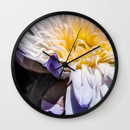 Tropical Water Lily Wall Clock
