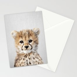 Baby Cheetah - Colorful Stationery Cards