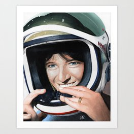Sally Ride Art Print