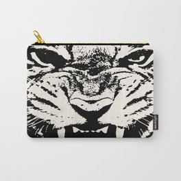 White Tiger Vector Carry-All Pouch