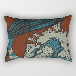 Dusk Waves Rectangular Pillow