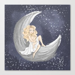 A Lullaby on The Moon Canvas Print