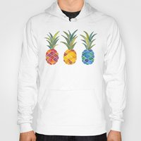 pineapples Hoodies featuring Pineapples by Cat Coquillette