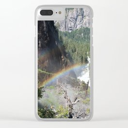 Rainbows by the Water Clear iPhone Case