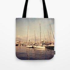 Port Vell Barcelona Spain Tote Bag