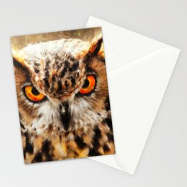 owl look digital painting orcstd Stationery Cards