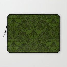 Stegosaurus Lace - Green Laptop Sleeve