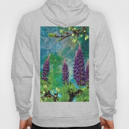 For The Love Of Lupines by annmariescreations Hoody