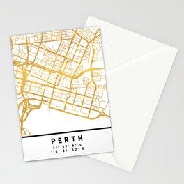PERTH AUSTRALIA CITY STREET MAP ART Stationery Cards
