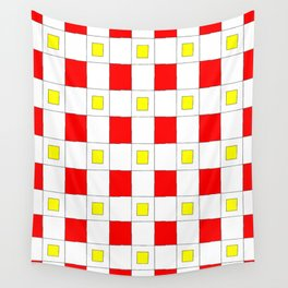 Tribute to mondrian 2- piet,geomtric,geomtrical,abstraction,de  stijl, composition. Wall Tapestry