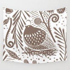 California Quail (Cocoa) Wall Tapestry