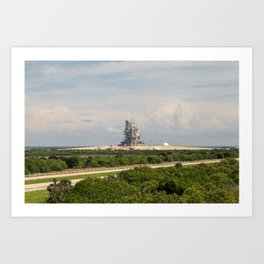 Rocket launch pad Art Print