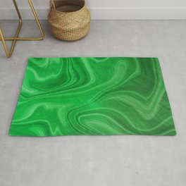 Green Swirl Marble Rug
