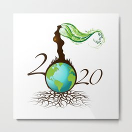 Mother Earth 2020 - White Metal Print