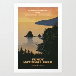 Fundy National Park Art Print