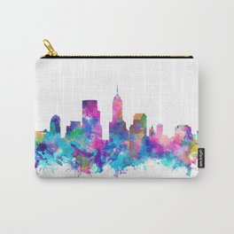 indianapolis city skyline watercolor 4 Carry-All Pouch