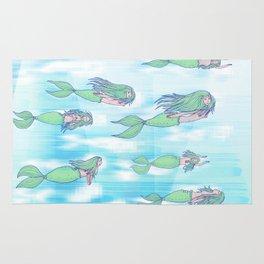 Mermaids dream by day Rug