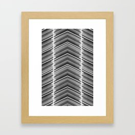 Line Me Up - Black and White Minimal Geometric Art Framed Art Print