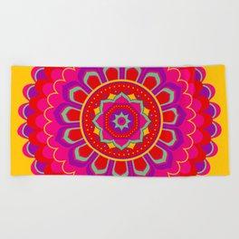 Masala Mandala Beach Towel