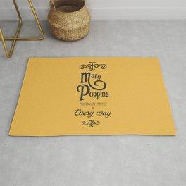 Mary Poppins poster, minimalist movie, Julie Andrews cult film, alternative affiche, Supercalifragi Rug