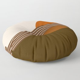 Cocoa Sundown Stripes Floor Pillow