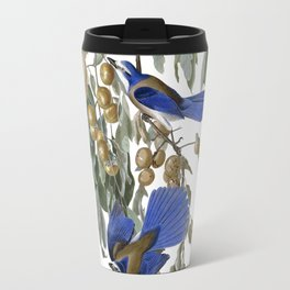 Florida Jay - Vintage Illustration by J.J. Audibon Travel Mug