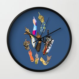 Artists Middle Fingers Wall Clock
