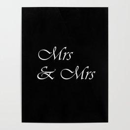 Mrs & Mrs Monogram Poster