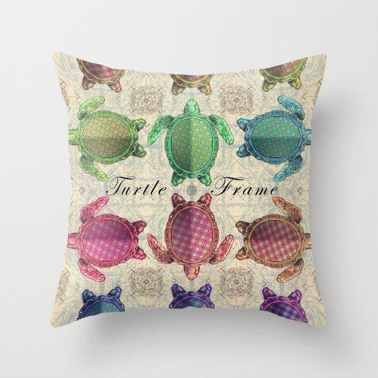 Turtle Frame Throw Pillow