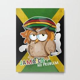 jamaican owl cartoon  Metal Print