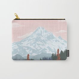 Mount Hood National Park Poster, Portland Oregon, Pacific Northwest, Vintage Retro Travel Poster Carry-All Pouch