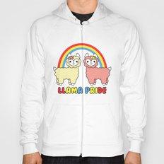 Cute Kawaii Llama Pride Rainbow Hoody