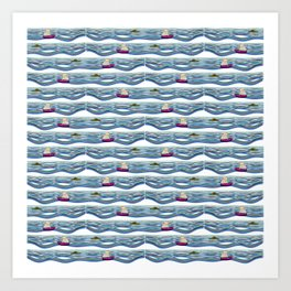Sailing pattern 1 Art Print