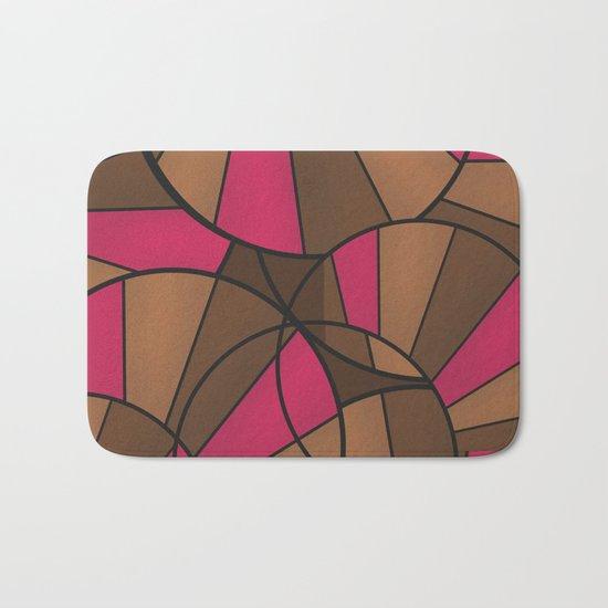 Brown pink pattern abstract . Bath Mat
