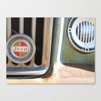 jeep Canvas Prints featuring Jeep by AnniarchyDesigns