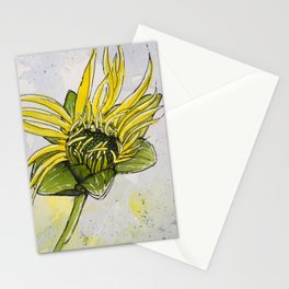 Budding Cup Plant Flower Stationery Cards