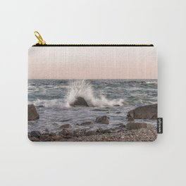 Waves splashing on the rocks Carry-All Pouch