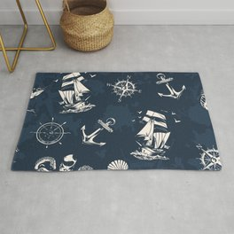 Ship Ocean Pattern Rug