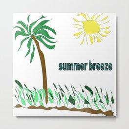 summer breeze minimal sketch Metal Print