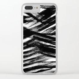 Black brush Clear iPhone Case