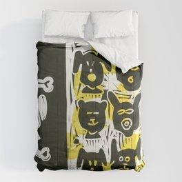 Dogs Linocut Comforters
