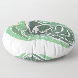biting turtle Floor Pillow