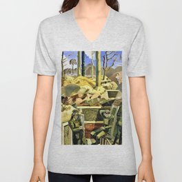 Spring in the Trenches, Ridge Wood - Digital Remastered Edition Unisex V-Neck