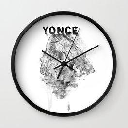 Formation III (Greyscale) Wall Clock