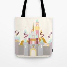 Sleeping Beauty Castle - cream background Tote Bag