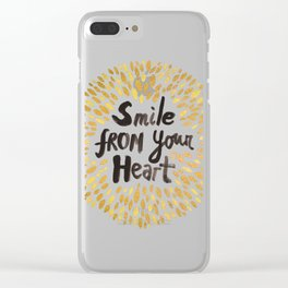 Smile From Your Heart Clear iPhone Case